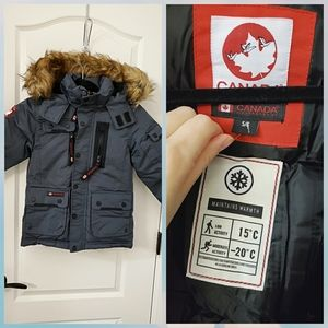 New Canada weather gear boy winter jacket